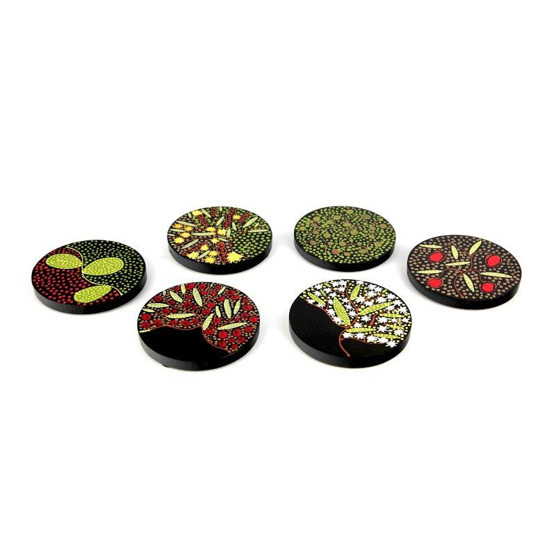 Miniature Art Bush Food Coaster Set